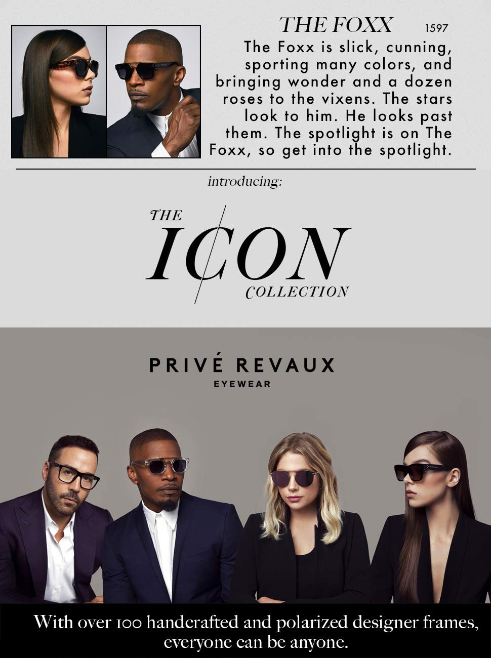 "fb7c2b831e Amazon.com  PRIVÉ REVAUX ICON Collection ""The Foxx"" Designer ..."