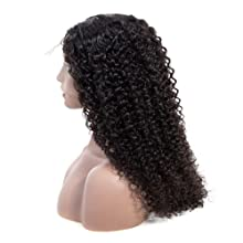 curly human hair wigs lace front wig