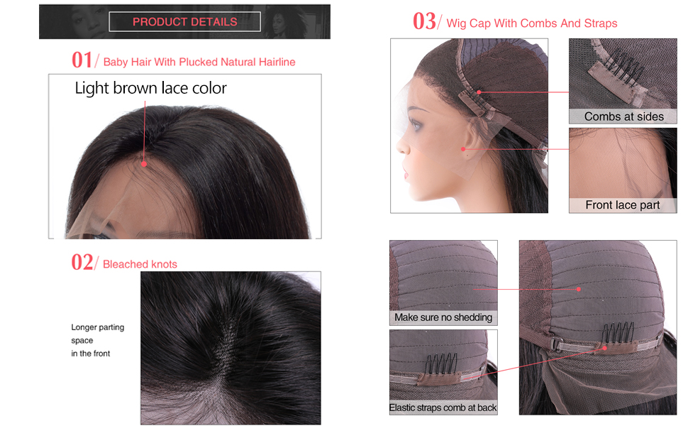 straight lace front wigs human hair bob wig