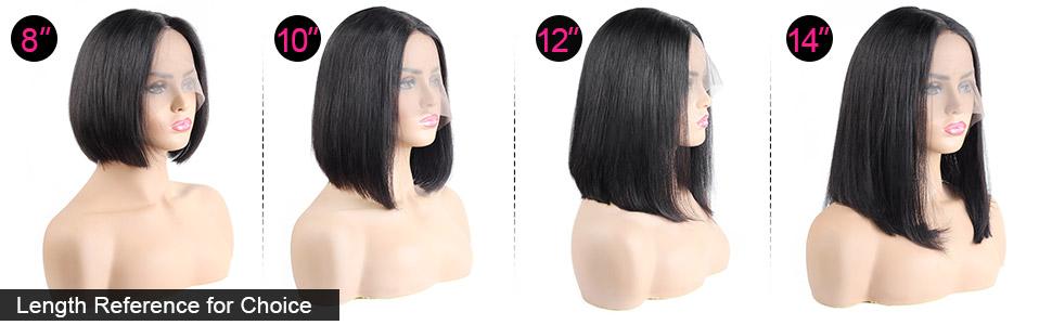 straight lace wigs bob wig human hair
