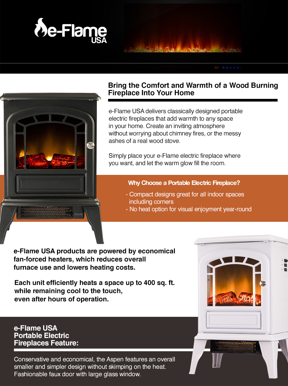 amazon com aspen portable free standing electric fireplace stove
