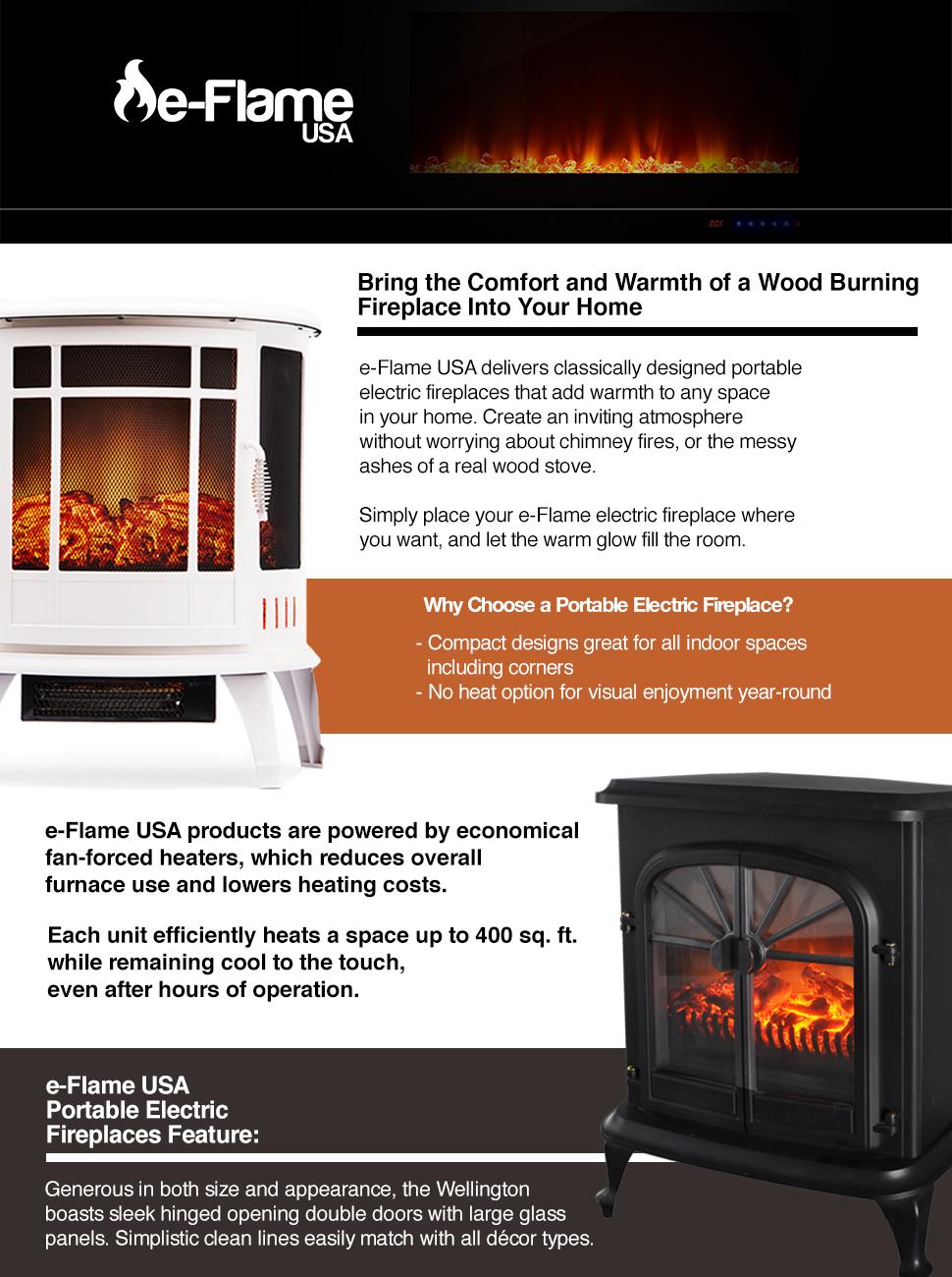 Amazon.com: Wellington 1,500 Watt Electric Fireplace Space Heater ...