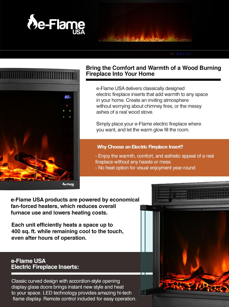 Amazon E Flame Usa Montreal Led Electric Fireplace Stove Insert