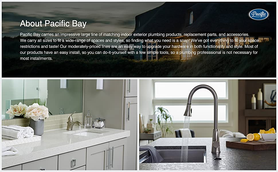 Pacific Bay Treviso High Rise Bar Galley Faucet Chrome Kitchen Faucets Brigs Com