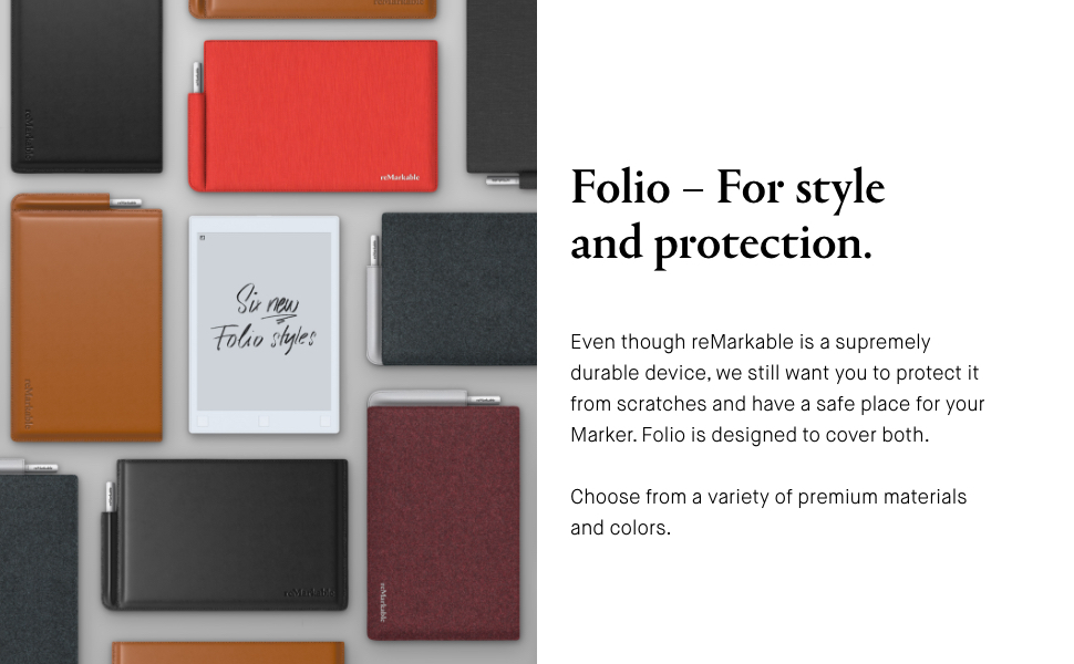 reMarkable Folio, Sleeve, Cover Case, Cary Case. For style and protection