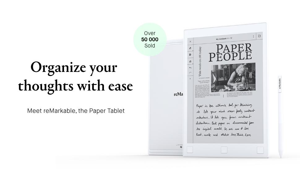 reMarkable Paper Tablet, Digital notebook, convert handwritten notes to text