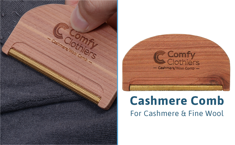 Cedar Wood Cashmere Comb by Comfy Clothiers