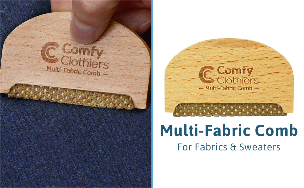 Wood Multi Fabric Sweater Comb by Comfy Clothiers