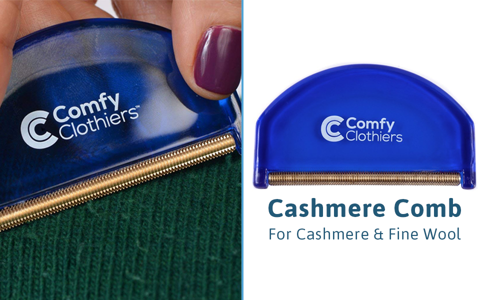 Cashmere & Wool Comb for De-Pilling Sweaters & Clothing - Removes Pills, Fuzz and Lint from Garments
