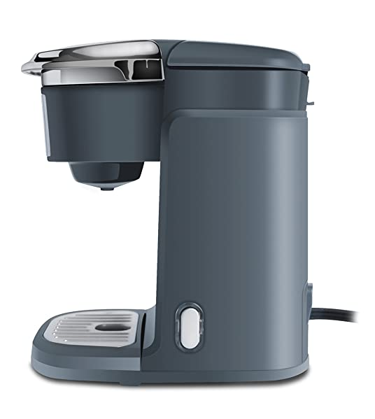 Single Cup Machine – Compatible With K-Cups – by Mixpresso Coffee (Dark Grey)