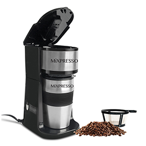 stainless steel espresso percolator single serve brewer cup insulated auto filter grinder outdoor