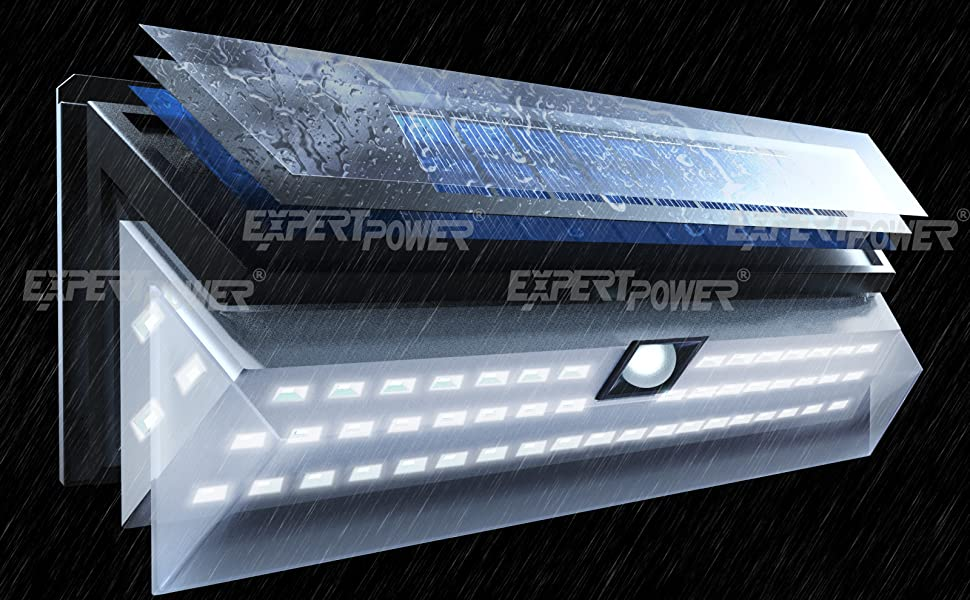 expertpower solar light, 54 led solar light, solar powered led light, waterproof solar light