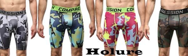 Holure Lot de 3 shorts de compression pour homme