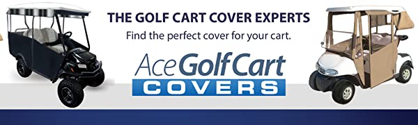 Premium Golf Cart Cover – Portable amp; Drivable 4-Sided Black Golf Cart Cover