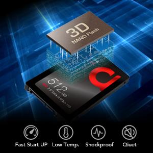 addlink S20 512GB SSD 3D NAND SATA III 6Gb/s 2.5-inch/7mm Internal Solid State Drive