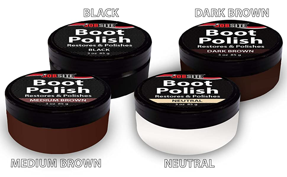 jobsite premium leather boot shoe polish cream restores conditions polishes. Black Bedroom Furniture Sets. Home Design Ideas