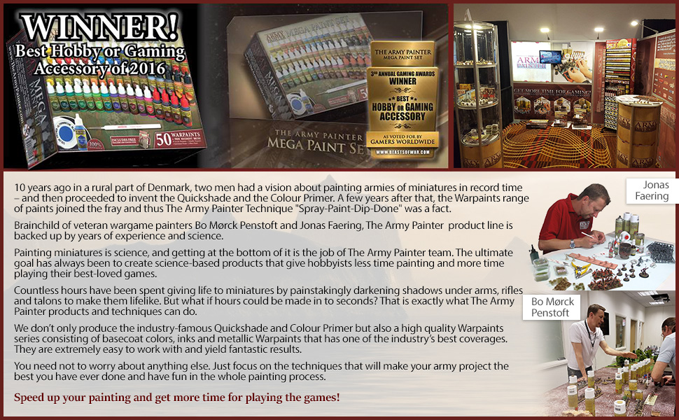 The Army Painter Miniature Painting Kit with Bonus Wargamer Regiment  Miniature Paint Brush - Acrylic Model Paint Set with 50 Bottles of Non  Toxic