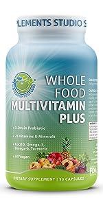 whole food multivitamin for men women probiotic digestive enzymes coq10 omega vegan minerals