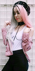 Heahair,Ombre Pink Synthetic Lace Front Wig,Pink Straight Long Wig,Long Straight Gray Wig