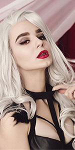 Heahair,Platinum Blonde Synthetic Lace Front Wig,Natural Straight Lace Front Wig,Long Lace Front Wig