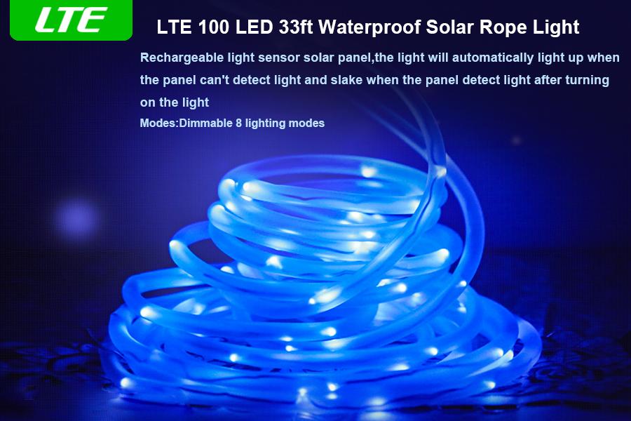 Amazon lte lighting even lte solar rope lights led string product description aloadofball Images