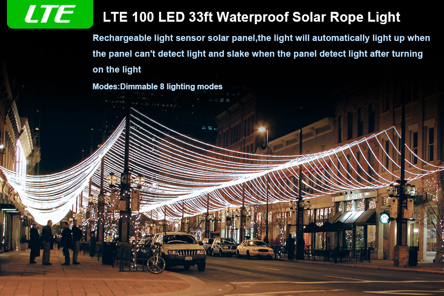 Amazon lte solar led string light solar powered rope light product description aloadofball Image collections