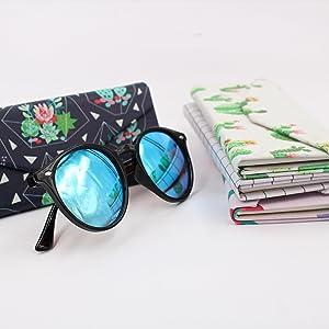 Amazon.com: Real SIC - Funda rígida para gafas de sol (piel ...