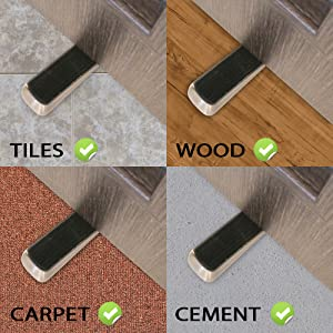 Our Heavy Duty Doorstop Sticks Well To Any Floor Surface Youu0027ll Encounter.  Be It Marble, Granite, Hone, Tiles, Wood Or Cement. The Door Stops Are  Great ...