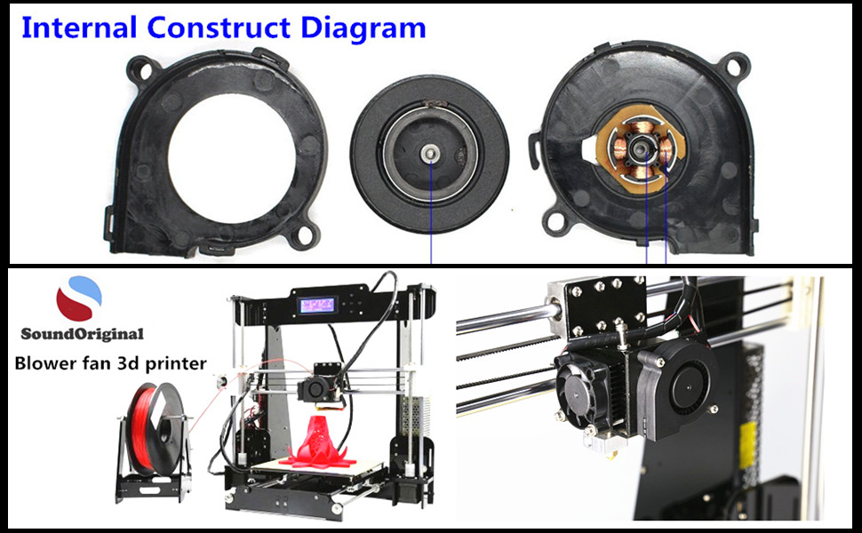 Amazon.com: soundoriginal 5015 sin escobillas DC ventilador ...