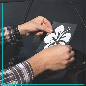 decal applying application instructions directions window sticker