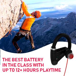 [Newest 2019] Bluetooth Headphones w/ 12+ Hours Battery - Best Wireless Sport Earphones, Mic - IPX7