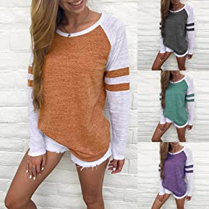 Kstare Women Tees and Tops,Women Color Block Patchwork Short Sleeve Top Blouse Crop Casual Tee Tunic Shirts
