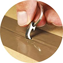 The Claw cutting a box open