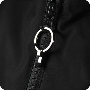 Hanging on a jacket zipper