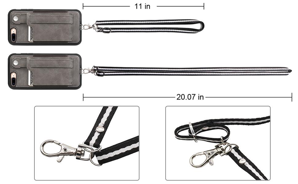 iphone 7 plus 8 plus case with strap