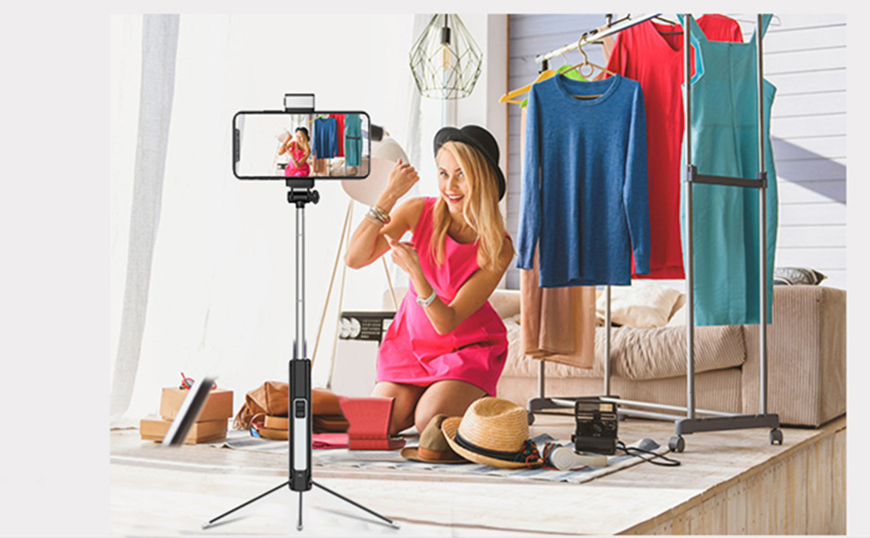 Top 10 Best Selfie Sticks with LED Light Reviews 2019-2020 - cover