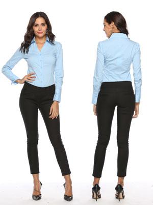 2bfd4d182a Amazon.com: Soojun Women's Long Sleeve Easy Care Work Bodysuit Shirt ...