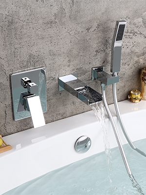 Dual Function Bathtub Faucet with Hand Shower