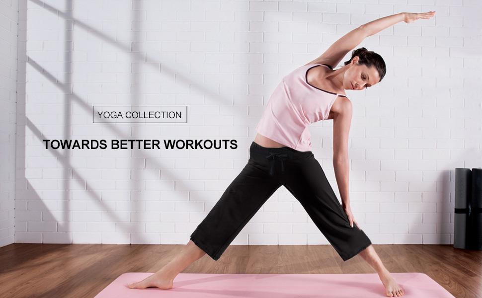 Amazon.com: BALEAF - Pantalones capri para yoga activo con ...