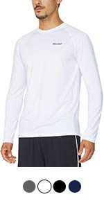 33464edde097 Baleaf Men s Quick Dry Short Sleeve T-Shirt Running Fitness Shirts · Baleaf  Men s Cool Running Workout Long Sleeve T-Shirt · Baleaf Men s 1 4 Zip  Pullover ...