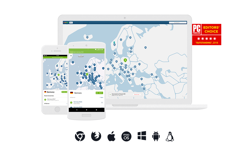 NordVPN Internet Privacy & Security Software | 18-Month VPN Subscription |  6 Devices | Mac / PC / iOS / Android / Linux | Key Card