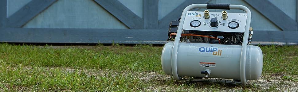 Quiet and convenient portable compressor