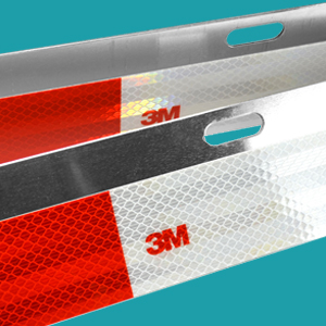 3m Straight semi truck reflectors