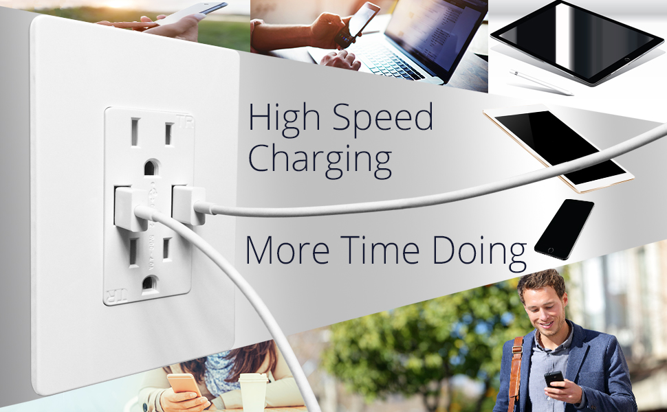 TOPGREENER TU2154A USB Charger Outlet $14.99 at  amazon.com online deal