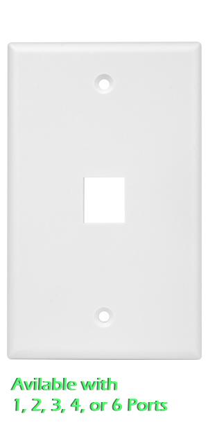 multimedia keystone u0026 cable wall plate covers
