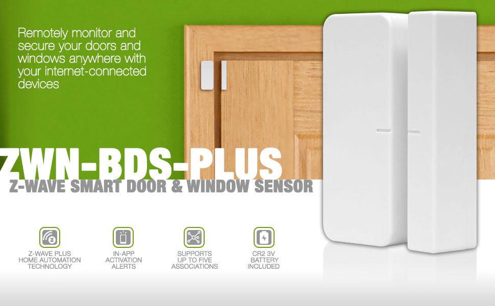 The ZWN BDS PLUS Is A Smart Door And Window Sensor That Works As Part Of A  Home Automation System Using Z Wave Plus. After Adding The Sensor To Your  Z Wave ...