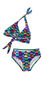 Matching Mermaid Bikini Sets