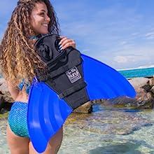 Nunui mermaid monofin for swimming
