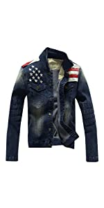 Blue Slim Fit Denim Western Cowboy jacket