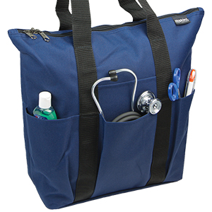 bd80f4921574 Hopkins 3 Pocket Zippered Tote for Home Health Care - Navy